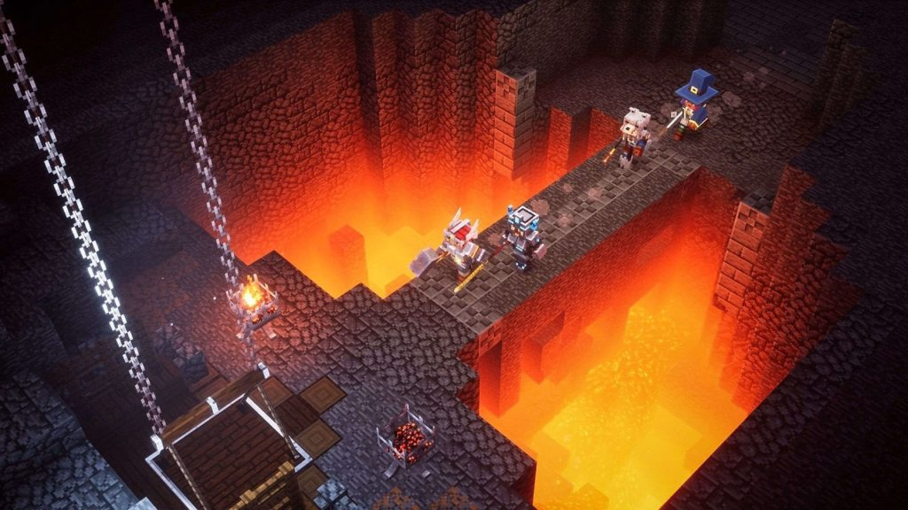 Minecraft Dungeons has offical launched on the Nintedo Swap! 5